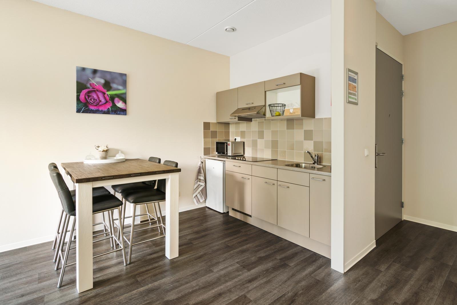 Foto van een keuken in een appartement bij SDW Woonlocatie 't Zand